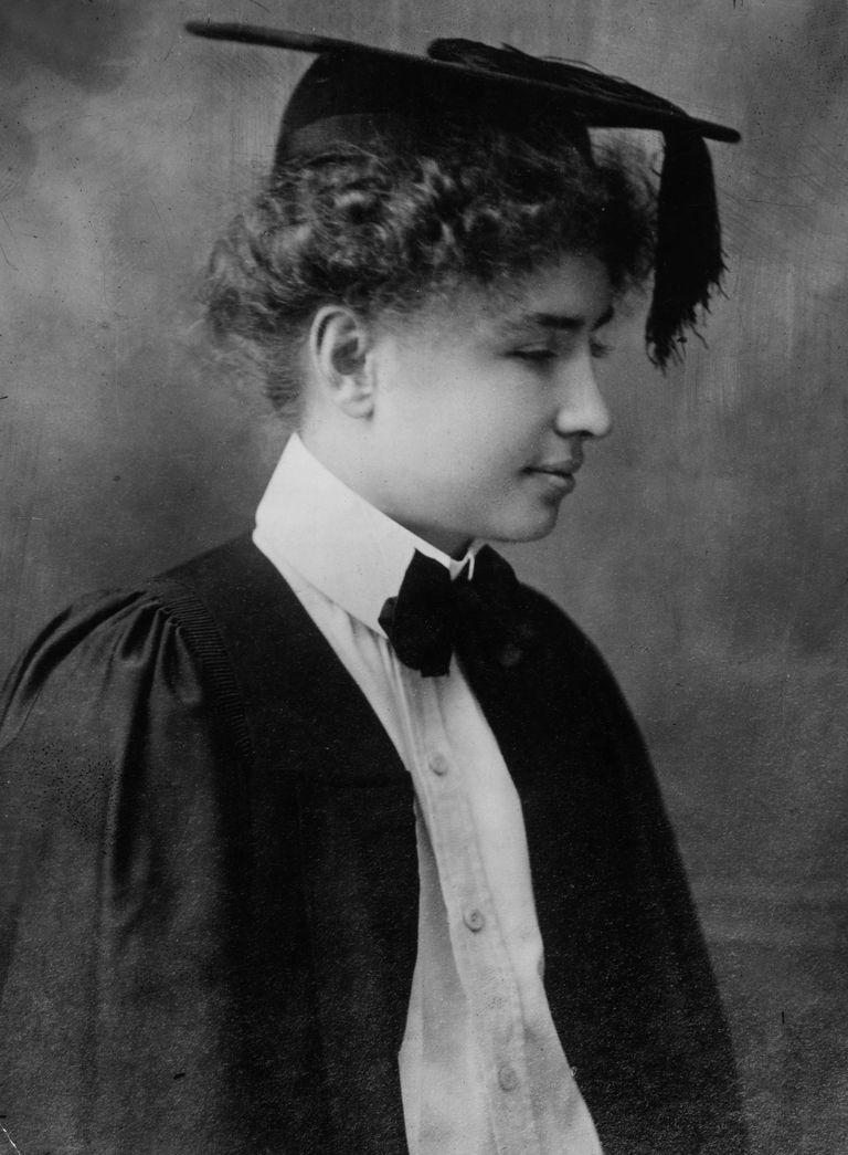 Helen Keller graduation from college